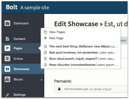 Bolt CMS: Easy for editors, and a developer's dream CMS
