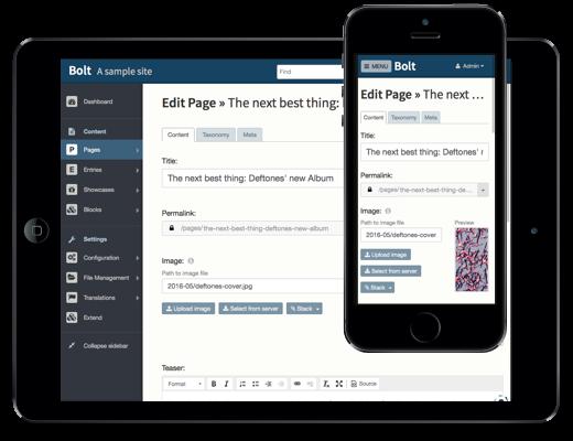 Bolt CMS: Easy for editors, and a developer's dream CMS